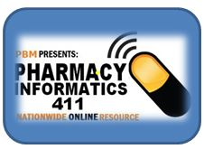 Logo with Pharmacy Informatics 411 typed out